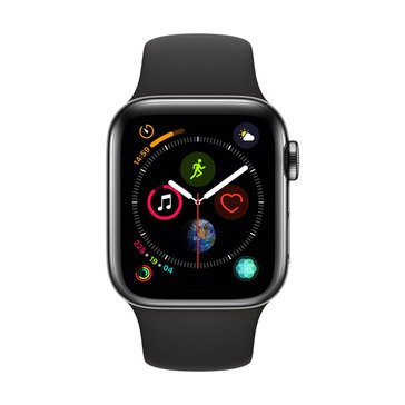 Apple Watch Series 4 (GPS & Cellular) Stainless Steel with Sport Band and AppleCare+ Bundle