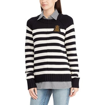 Lauren Ralph Lauren Women's 2-Fer Striped Sweater