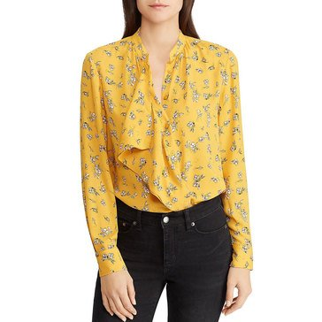 Lauren Ralph Lauren Women's Small Floral Bouqet Blouse