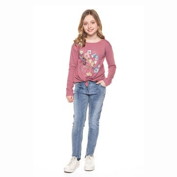 DEX Big Girls' Rose Long Sleeve Tee