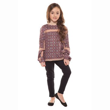 DEX Big Girls' Berry Boho Top