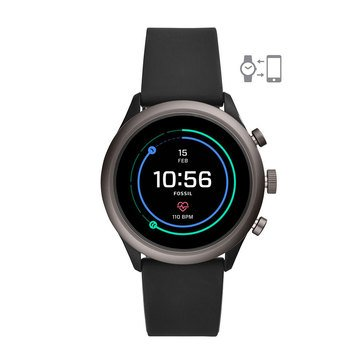 Fossil Sport Smartwatch - Black Silicone, 43mm