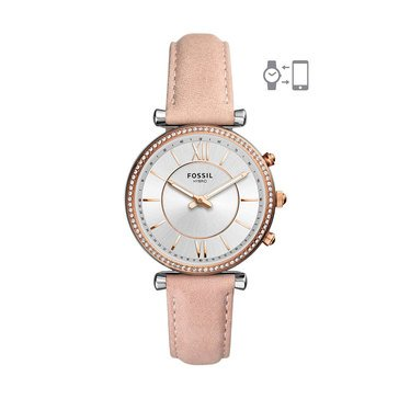 Fossil Women's Hybrid Smartwatch - Carlie Blush Leather