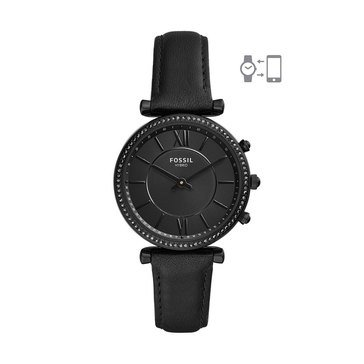 Fossil Women's Hybrid Smartwatch - Carlie Black Leather