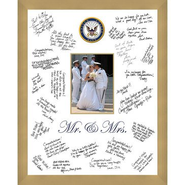 Church Hill Classics USN Mr.& Mrs. 5X7 Wedding Frame with Autograph Pen