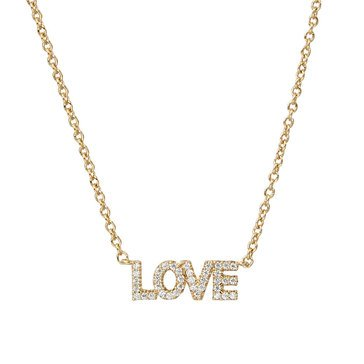 Nadri V-Day Love Necklace, Gold Tone
