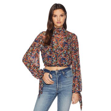 Free People Women's All Dolled Up Printed Blouse