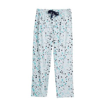 Jammers Women's Peace Love Dreams Plaid Flannel Sleep Pants extended sizes
