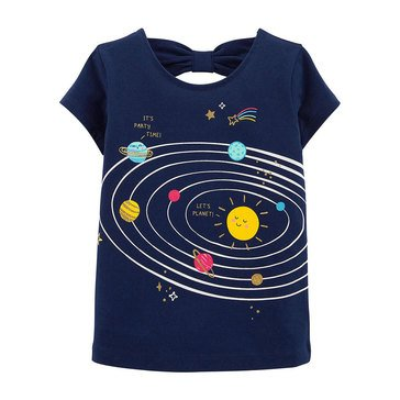 Carters Toddler Girls Short Sleeve Out Of World Glitter Tee