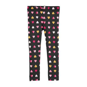 Carters Toddler Girls All Over Heart Print Glitter Legging