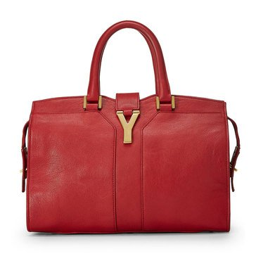 Yves Saint Laurent Red Leather Cabas Small