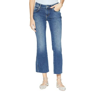 Free People Women's Rita Crop Denim Flare Jeans