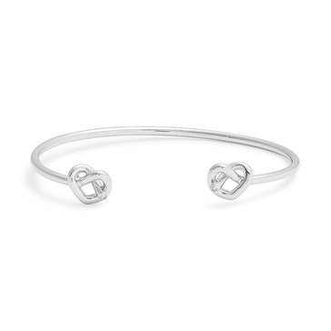Kate Spade New York Double Loves Me Knot Cuff, Silver Tone