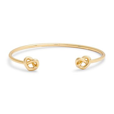Kate Spade New York Double Loves Me Knot Cuff, Gold Tone