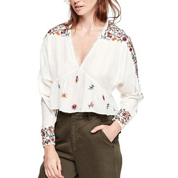 Free People Women's Ava Embroidery Blouse