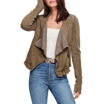 Free People Women's Shrunken Moto Jacket