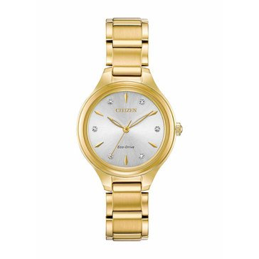 Citizen Women's Eco-Drive Corso Stainless Steel Gold Tone Bracelet Watch, 29mm