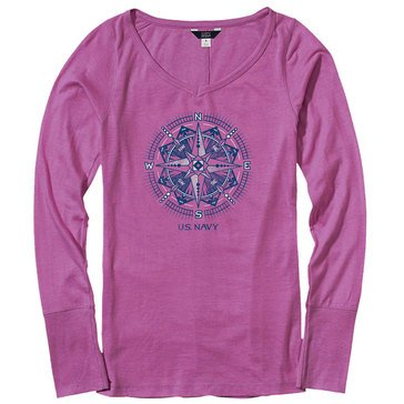 The Game Women's USN Brooklyn Abstract Compass Tee in Extended Sizes