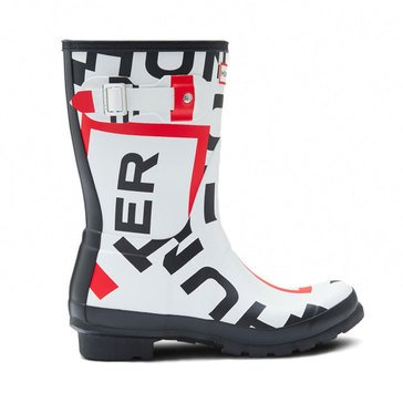 Hunter Original Short Exploded Logo Rain Boot