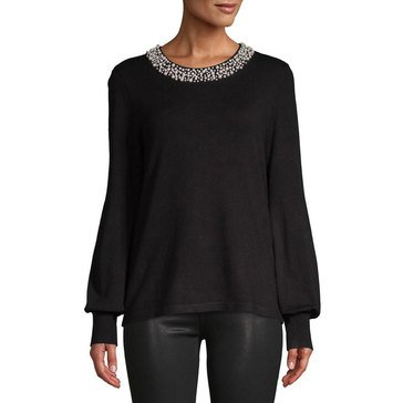 Karl Lagerfeld FG Multi Pearls at the Neck Sweater