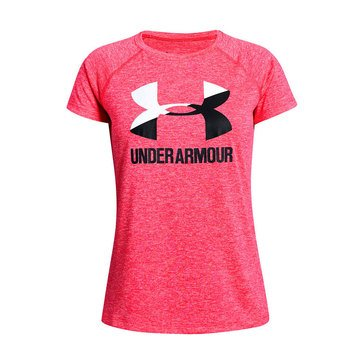 Under Armour Big Girls' Short Sleeve Big Logo Tee Twist