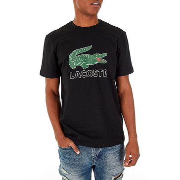 Lacoste Men's Short Sleeve Graphic Jersey Big Croc Tee