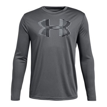 Under Armour Big Boys' Tech Big Logo Long Sleeve Tee