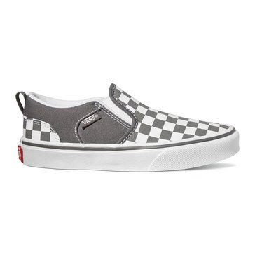 Vans Boys Asher Checked Sneaker (Little Kid)