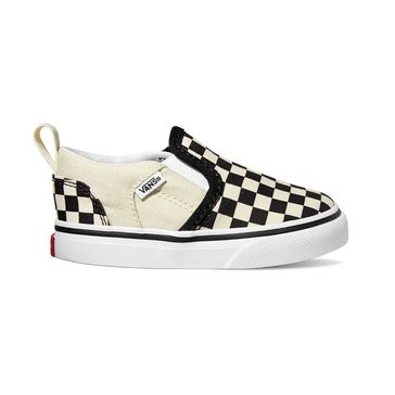 Vans Boys Asher Checked Sneaker (Toddler)