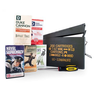 Duke Cannon US Military Ammo Can Gift Set