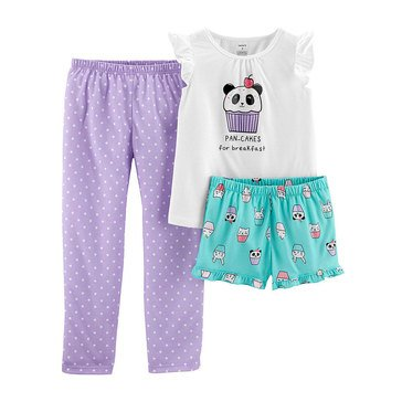 Carter's Little Girls' 3-Piece Pancake Print Pajama Set