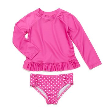 Yarn & Sea Toddler Girls' 2-Piece Rashguard Set