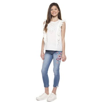 Dex Big Girl's Ruffle Sleeve Top