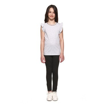 DEX Big Girls Grey Short Sleeve Knit Tee