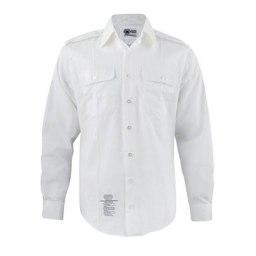 Army Men's White Long Sleeve Shirt (A)