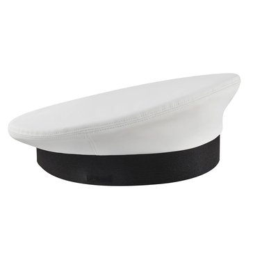 Bernard ACC White Vinyl Cover for Dress Cap Style #103W