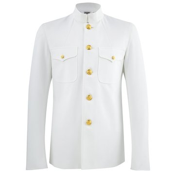 Men's Service Dress White Choker, Classic Fit