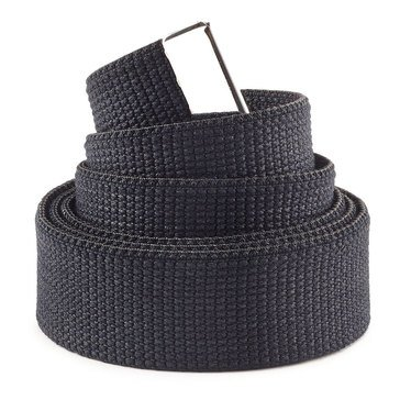 NAVY Black Cotton Belt 45