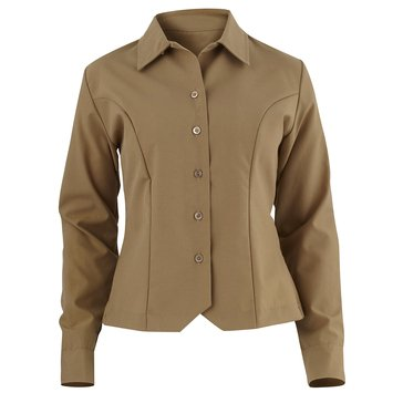 USMC Khaki Poly/Wool Maternity Long Sleeve Shirt