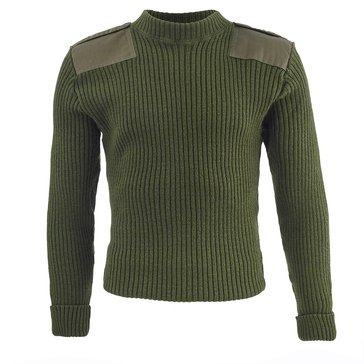 USMC Green Sweaters with Epaulettes