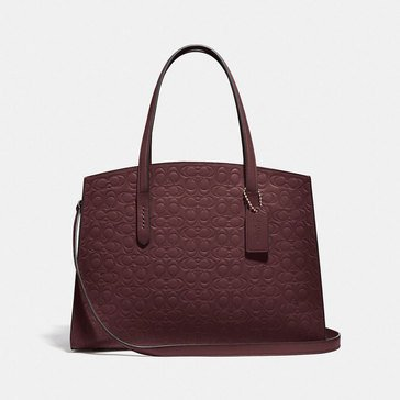 Coach Signature Leather Charlie Carryall