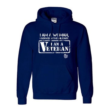 SheServed Women's I Am Woman Vet Fleece Hoodie