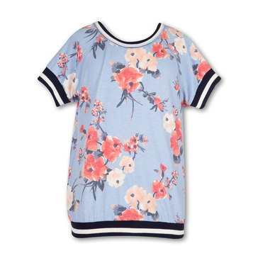 Speechless Big Girls' Floral Taped Top