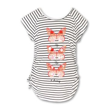 Speechless Big Girls' Stripe Sequin Butterfly Top