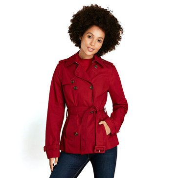 Brooks Brothers Women's Red Fleece Short Belted Jacket