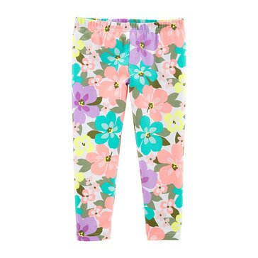Carter's Little Girls' Tropical Flower Print Leggings