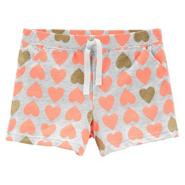 Carter's Toddler Girls' Heart Print Glitter Knit Shorts