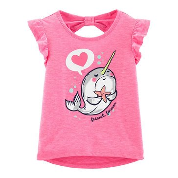 Carter's Toddler Girls' Knot Back Friend Forever Glitter Tee