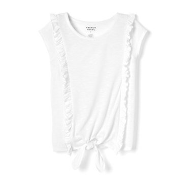 Yarn & Sea Toddler Girls' Ruffle Tie Front Tee
