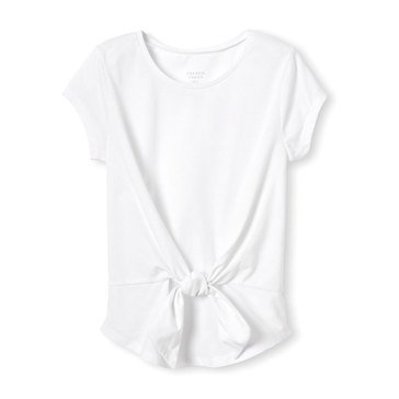 Yarn & Sea Little Girls' Tie Front Top